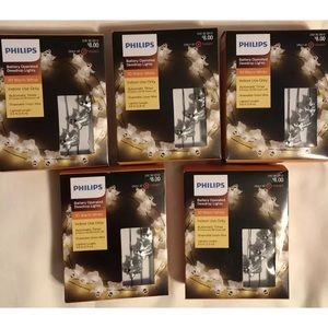 5 Philips 30ct DewDrop White Lights GLITTER GHOST